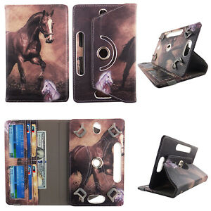 Tablet Case 10 inch Universal Folio Stand Leather Rotating Cover Card Cash Slots