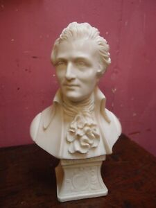 "Alabaster statue Wolfgang Amadeus Mozart Sculpture Bust By Faro  ""Made in Italy"""