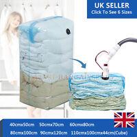Vacuum Bags Storage Compressed Seal Clothes Vaccum Bag Organiser Space Saving UK