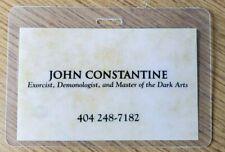 John Constantine' Id Badge / Carte Exorciste, Demonologist, Dark Arts Cosplay