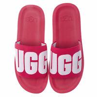 Womens Ugg Australia Zuma Graphic Slide Sandals In Sweet Sangria