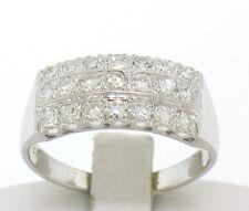 ANTICO 14k oro bianco massiccio .65ctw LARGO Old SINGOLO diamante tagliato VS F