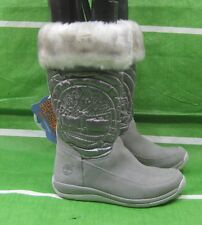 Timberland Holly berry Gray suede faux fur lined tall winter boot toddler 12.5
