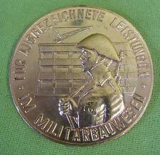 DDR Medaille - Für ausgezeichnete Leistungen im Militärbauwesen - Bronze