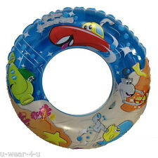 KIDS NOVELTY INFLATABLE RUBBER RING RIDE ON POOL TOYS BEACH FLOAT SWIM SEA