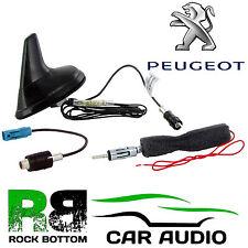 Peugeot Negro Mate Amplificado aleta de tiburón radio de coche estéreo cubierta De Antena