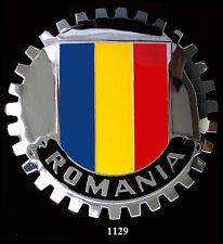 CAR GRILLE EMBLEM  BADGES -  ROMANIA (FLAG)
