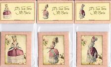Vintage inspired tea cup Marie Antoinette tea bag envelopes party favor