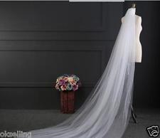 new 2 Layer 3M Cathedral Length wedding veil bridal mantilla yashmak Ivory