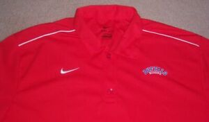 Stitched NIKE DRI-FIT Authentic BUFFALO BISONS Red POLO/Golf Shirt XL jersey l