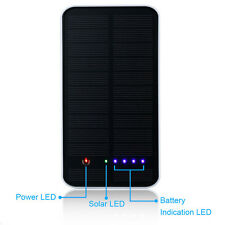 Solar Power Bank Battery Charger For iPhone 6S 6 5S i Pad Samsung HTC Huawei LG