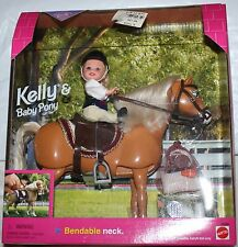 BARBIE KELLY & BABY PONY BARBIE RIDING CLUB (1998) NRFB