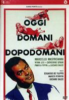 Oggi, Domani, Dopodomani - Film Cult Con M. Mastroianni - Dvd Nuovo Sigillato