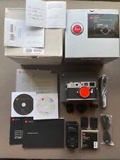 Leica M8 digital rangefinder camera with extra battery, original box/accessories