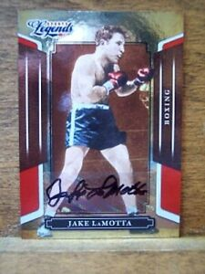 Jake LaMotta certified autographed auto 2008 Donruss Sports Legends boxing card