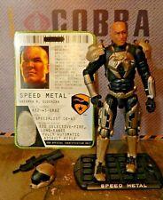 GI JOE ~ SPEED METAL ~ SENIOR RANKING OFFICER ~ COBRA~ 100% COMPLETE & CARD