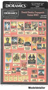 Custom Dioramics French Benelux Propaganda Posters WW II 1/35 Diorama CD5026