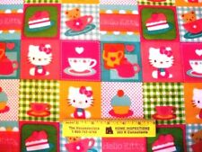 Hello Kitty Tea Party Patch Cotton Flannel Fabric By Yd