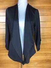 Smart Crossroads Grey Waterfall Jacket Swing Coat Size10 EUC
