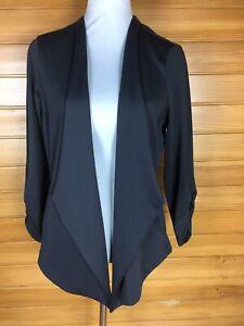 Smart Crossroads Grey Waterfall Jacket Swing Coat Size 10 EUC