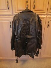 MEN'S SPACECRAFT LARGE BROWN FAUX LEATHER AND NYLON WINTER JACKET COAT, VINTAGE