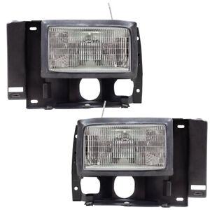 Pair Set Headlights Headlamps for Ford Explorer Bronco II Ranger Pickup Truck