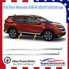 Chrome-Stainless-Steel-Door-Side-Body-Mouldings-Cover-Trim-For-Honda-CRV-2017-18