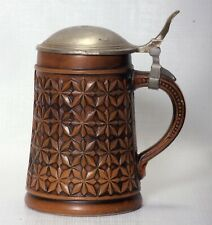 Beer Stein ceramic with Pewter Lid