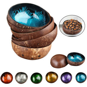 Natural Coconut Hard Shell Bowl Dishes Kitchen Key Candy Nut Tableware Decor