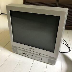 """Magnavox MSD520FE Retro Gaming 20"""" Flat Screen CRT TV Built in DVD Broken READ"""