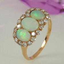 Echtschmuck-Ringe aus Gelbgold mit Opal und Cabochon für Damen