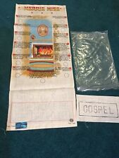 🔥New 🔥Vintage 70s Lds Merrie Miss Banner Mormon Award To Embroider Linen