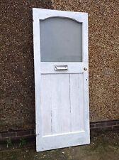 Reclaimed Old 1930s Edwardian Victorian External Timber Wooden Front Door