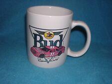 Bill Elliott Budweiser Mug Race Car, Gold Accents by Anheuser Busch 1983