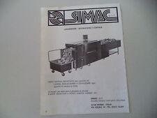 advertising Pubblicità 1978 SIMAC - PARMA