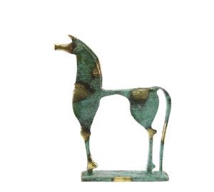 Statuette Pferd Griechisch aus Bronze Auf Sockel Griechenland Antik BDK183