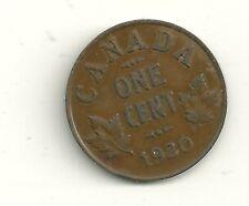 Canada 1920 1 Cent Copper Coin