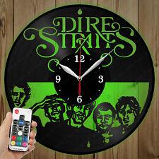 LED Vinyl Clock Dire Straits LED Wall Art Decor Clock Original Gift 4389