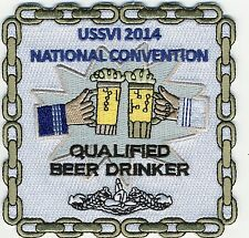 USSVI 2014 Convention Qualified Beer Drinker - BCPatch Cat. No. C7118