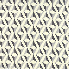 MODA SERENITY Grey Geometric Diamond Whisper Stone Quilting Fabric Fat Quarter