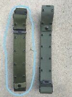 US Military OD Nylon Pistol/Individual Equipment Belt Large 8465-01-322-1966