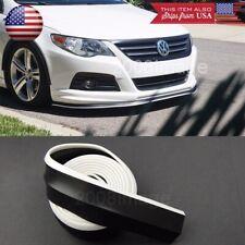 """1.3"""" Black + White Trim EZ Fit Bumper Lip Splitter Chin Splitter For Honda Acura"""