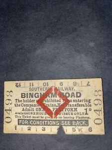 Southern Railway Red Diamond Platform Ticket Bingham Road Station