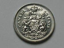 Canada 1969 50 CENTS Queen Elizabeth II Coin - AU++ Lustre