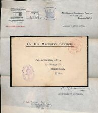 NEW ZEALAND 1920 GOVT.OFFICE GB POSTAGE PAID FRANK... re IMMIGRATION PASSAGE