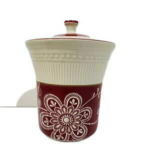 Pier 1 Maribeth Cookie Jar/Canister With Lid