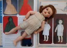 Ancienne poupée BLEUETTE tête incassable avec chemise présentation circa 1939/46