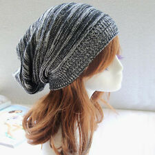Women Knitted Oversize Baggy Slouchy Beanie Hat Warm Winter Hat Ski Chic Cap