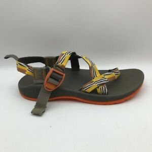 Chaco Boys Sports Sandals Yellow Brown Buckle Open Toe 6