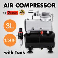 1/6hp Voilamart Air Brush Compressor 2 Airbrush Spray Guns Stencils Hose Art Kit